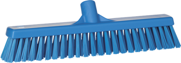VIKAN BROOM 410MM SOFT/HARD - BLUE