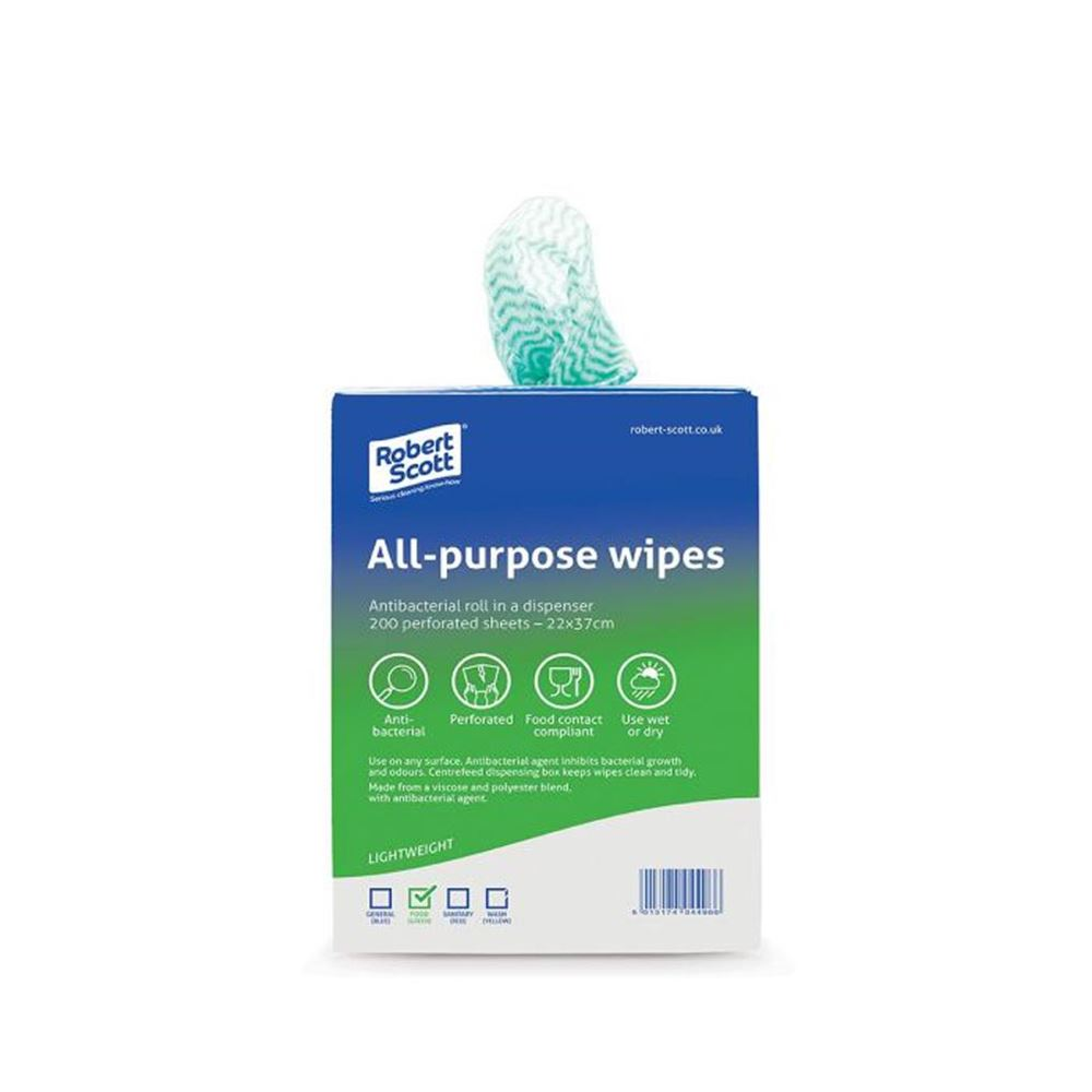 ABBEY ANTI BAC CLOTH ALL PURPOSE (ROLL 200) - GREEN