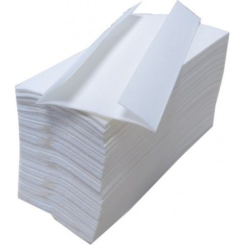 WHITE C FOLD TOWEL 2 PLY 2400 SHEETS PER BOX
