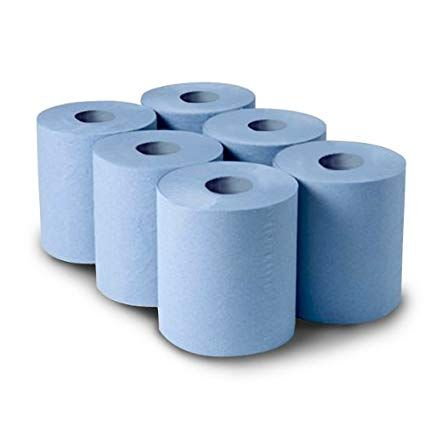 CENTREFEED BLUE ROLL 150Mx176MM 2 PLY PACK OF 6