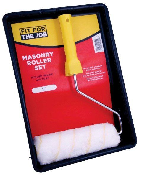 "FFJ ROLLER SET 9"" X 1.5"" MASONRY COMPLETE WITH TRAY"